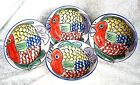 Tabletops Unlimited Pescada Soup Bowls Hand Painted Fish Design (set of 4)