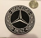 Mercedes Benz Logo Emblem Embroidered Iron On Patches 3 Round Nice
