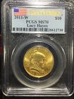 2011 W 10 First Spouse Gold Lucy Hayes 1 2 oz PCGS MS 70 First Strike