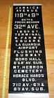 VINTAGE NYC QUEENS BUS SIGN COLLECTIBLE ROLL SIGN NY SUBWAY LA GUARDIA AIRPORT