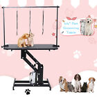 44 Dog Cat Pet Hydraulic Grooming Table Portable Z Lift w Adjustable Arm
