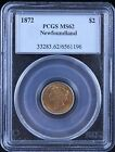 1872 Newfoundland $2 Gold PCGS Graded MS-62 - Rare! - Low Mintage Coin!