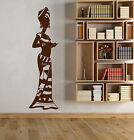 Vinyl Wall Decal African Woman Native Africa Turban Black Lady Stickers 1320ig
