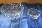 TIFFANY  CO Crystal Clear Glass Large  Small Bowl Dish Heart Pattern