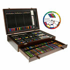 143 Piece Art Drawing Set Artist Sketch Kit Paint Pencil Pastel Wood Case Box