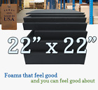 22x22 Square Rubber Foam Firm Sheets Upholstery Replacement Cushion