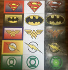 DC Hero Justice League Logo and Character Stickers