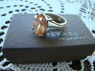 Silpada Sterling Silver Champagne CZ Ring Sz 6.75  R1318 Retired!