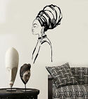 Vinyl Wall Decal African Girl Native Black Woman Turban Stickers 1370ig