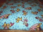 1 YD  33 LITTLE GIRL  DOG PLAYING FLANNEL FABRIC SEWING QUILTING