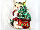Fitz and Floyd Christmas Lodge Rabbit Ornament- With Box19/1639