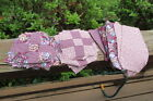 40 small 9 patch Quilt Blocks + Extra fabric Puce Pin Maroon 5 square Q37