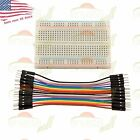 400 Point Solderless Prototype Breadboard Protoboard+20 DuPont 10cm M M Jumpers