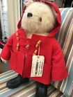 Vintage 1980 Paddington Bear 19 by Gabrielle Doll Black Boots Red Jacket Heavy