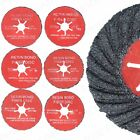 SEMI FLEXIBLE FLAP WHEEL DISCS 24/36/60 Grit Angle Grinder Sanding 115mm/125mm
