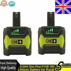 2 X 5.0AH One Plus P108 18V Lithium Battery for Ryobi P104 P105 P102 P103 P107