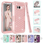 SHINE HYBRID HARD Case For Samsung Galaxy S8 S8 PLUS Note 8 Rubber Phone Cover