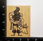Medieval Executioner By Rubber Baby Buggy Bumpers People Rare Rubber Stamp 47A