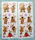 BOOFLE  HEART FLOWER SPRING  SCRAPBOOKING STICKERS AGC 2 SHEETS NWOP