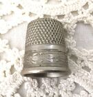 Silver Nickel Thimble-Sewing-Crafts-Size 8-SBC-Simon Brothers Co. USA.      #337