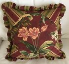 Gorgeous WAVERLY Tropical Wailea Coast Butterflies Red Floral Pillow Cover 17