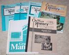 Lot of 6 A BEKA Old World History Books  Teacher Keys 5th Grade 1991 Maps