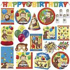 Curious George Childrens Birthday Party Tableware Decorations Supplies