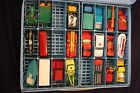 LOT 21 RARE CLASSIC 70s MATCHBOX LESNEY CARS TRUCK COLLECTOR CASE