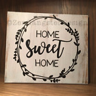Home sweet home rustic wood sign farmhouse style sign distressed framed sign