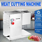 250Kg/Hour Stainless Steel Meat Cutting Machine 3mm Blade Commercial Slicing