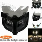 12V Motorcycle Fairing Headlight Mask For Streetfighter Dirt Bikes Naked Bikes