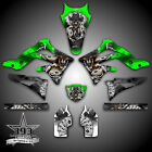KAWASAKI KX450F 2006-2017 4 STROKE GRAPHICS STICKER KIT DECALS OUTLAW SKULL KXF