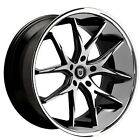 New4 20 Lexani Wheels R Twelve Black Machined W Chrome Lip Rims