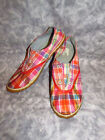 Sorel Picnic Plimsole Plaid Canvas Rubber Slip on Sneakers Boat Shoes Womens 6