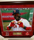 David Ortiz Boston Red Sox Autographed Framed Picture 24x22