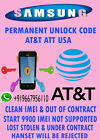 Network Unlock Code Samsung Focus S 8 Att supported out of contract only