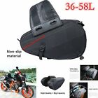 Black Motorcycle Pannier Bags Luggage Saddle Bags with Rain Cover 36-58L