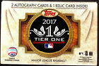 2017 Topps Tier One Baseball Factory Sealed Hobby Box