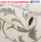Embossed wall paper roll stripe Thick Texture Purple Kids Floral elegant