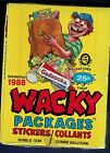 VINTAGE WACKY PACKAGES TOPPS 1988 OPC O-PEE-CHEE UNOPENED BOX 36 PACKS