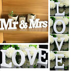 Mr  Mrs LOVEWhite Wooden Letters Wedding Home Party Table Sign Decor