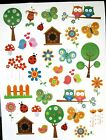 New Sweet Spring Flowers Birds 33 Stickers Acid Free Scrapbooking Cards Gifts