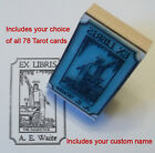 Custom Tarot Card Ex Libris or bookplate rubber stamp by Amazing Arts