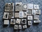 Rubber Stamp Lot of 25 Scrap Limited Edition Stamps New Unused