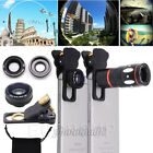 4in1 Zoom Telescope Camera Lens+Fisheye+Wide Angle+Macro Lens For iPhone Samsung