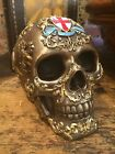 Bronze Heraldic Skull Goth Fantasy Harry Potter Game of Thrones Medieval Style