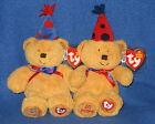 TY FUN & LAUGHTER BEANIE BABY SET - TY 20TH ANNIVERSARY - MINT with MINT TAGS