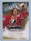 2009-10 Upper Deck Hockey The Champions Auto Gold CH-CC Cassie Campbell