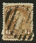 Canada 1868 Large Queen 6c yellow brown #27a JUMBO sized stamp