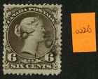 Canada 1868 Large Queen 6c brown Thin Paper #27c Partial CDS